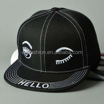 2015 Autumn Winter Fashion New Eyelash Boy Girls Children Flat Brim Snapback Cap