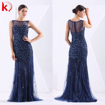 2014 New Design Slim Fit Women Fashion Royal Blue Evening Dress With ...