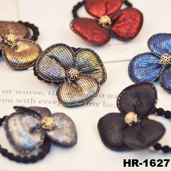 High quality retro rubber elastic bands hair flower hairband elastic hairband