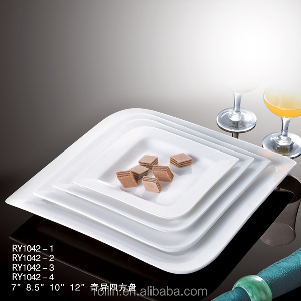 Super fine China Ceramic Plates Porcelain Side Plates Dinner Plates for Hotel and Restaurant