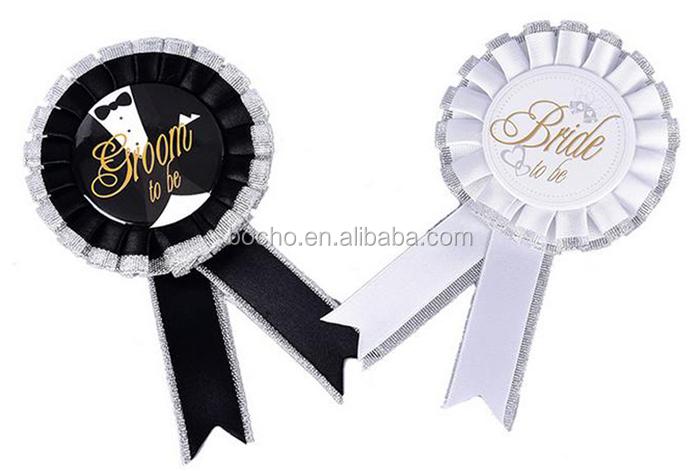 Populaire Bruid en Bruidegom Badge Rozet Voor Huwelijksceremonie