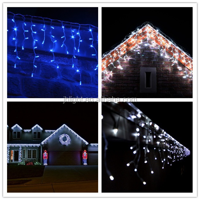 Christmas Twinkle Lights Dripping Led Icicle Lights Outdoor ...