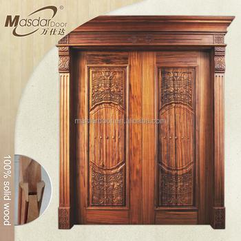 Luxury 48 Inch Wooden Double Door Designs For Indian Homes