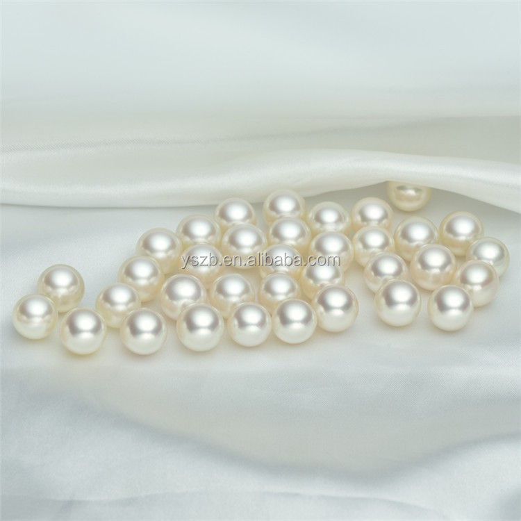 huge 11-12mm natural south sea white perfect pearl undrilled AAA