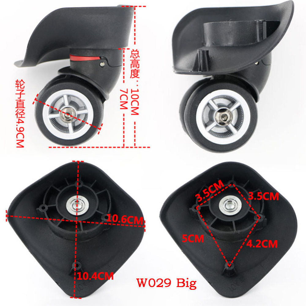 replacement luggage suitcase wheels swivel universal right left wheel for rubber trolley case. Black Bedroom Furniture Sets. Home Design Ideas