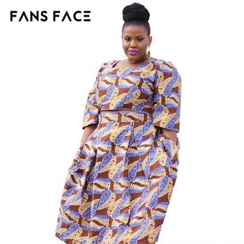 8a221ca1fdd Plus La Taille Des Femmes Vêtements Africain Bazin Riche Robe Grande Taille