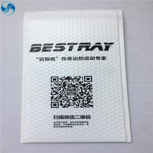 China Supplier Custom Printed Strong White Poly Bubble Mailer