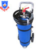 25KG abc blue cylinder trolley abc dry powder fire extinguisher