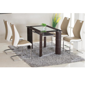 Low Price Tempered Glass Top Mdf Pvc Dining Table - Buy Oval Glass Dining  Table 94c9e3ef35fb