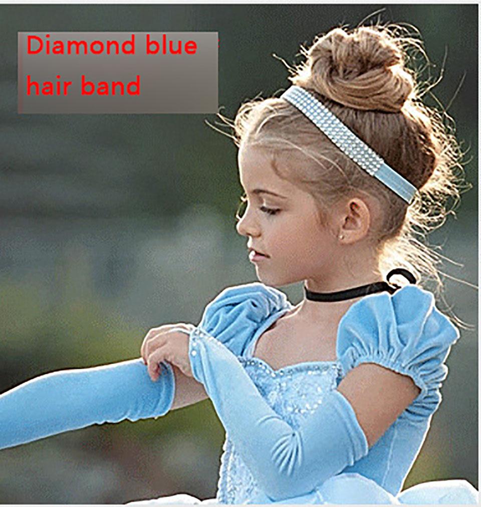 2018 christmas Princess Cinderella dress Girls Blue Long Dress Costume  Princess Party Dresse Ball Gown cosplay New Christmas Gift baby girls Dress  ... 077052a02983