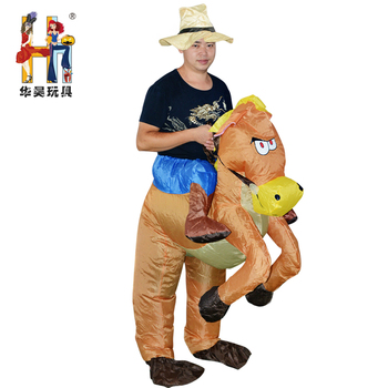 Halloween Kostuum.Opblaasbare Volwassen Western Cowboy Paard Halloween Kostuum