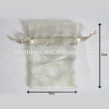 Wholesale Customized Logo Organza Wedding Gift Indian style Drawstring Pouch