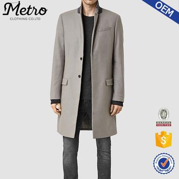 bf8ac6cd6d0f37 Oem Korea Fashion Long Grey Winter Trench Coats For Men - Buy ...