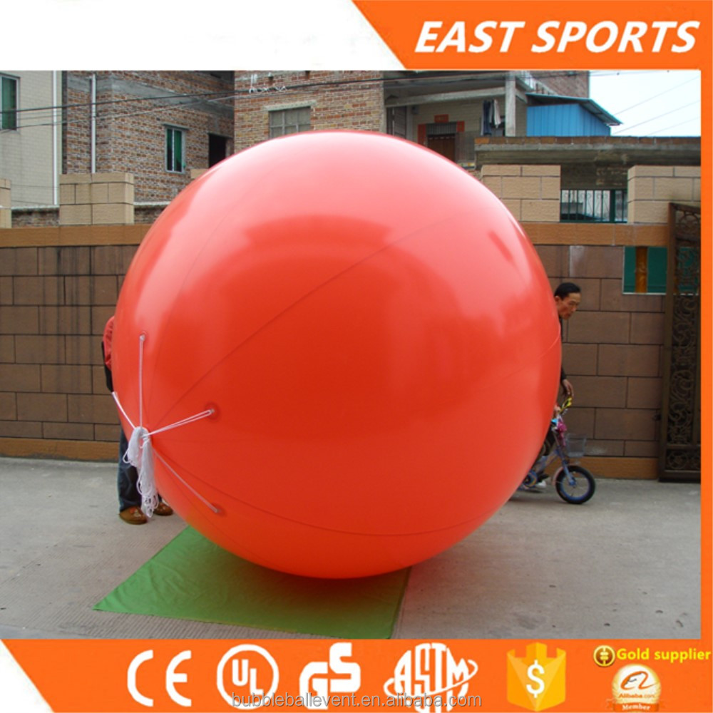 Commercial yellow inflatable helium balloon for advertising