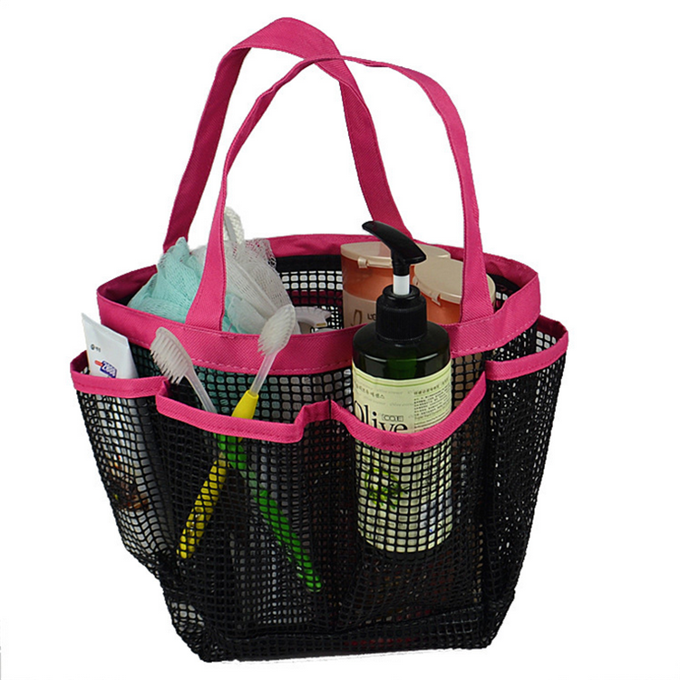 Mesh Shower Tote mesh shower tote caddy baskets hanging bag toiletry bath organizer