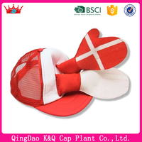 High Quality Red Cute Mesh Baseball Hat With Clapping Hands