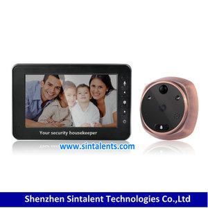 "Free shipping! 4.3"" LCD Screen Monitor Digital Door Viewer with Photo Digital Camera door viewer peephole"