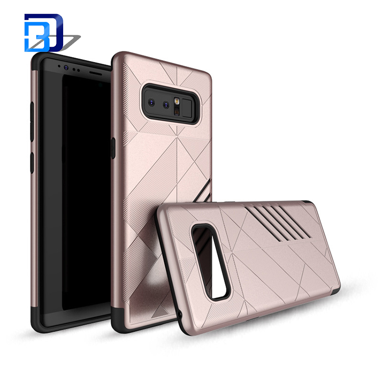 2 in 1 TPU PC Cover shockproof Anti-drop phone case For Samsung note 8