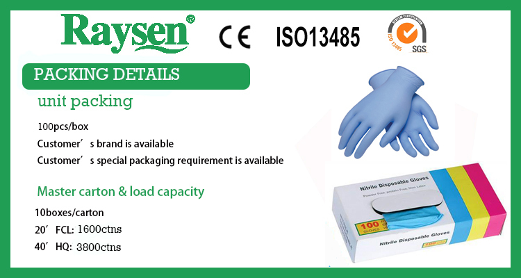 Factory price Disposable Exam Nitrile gloves