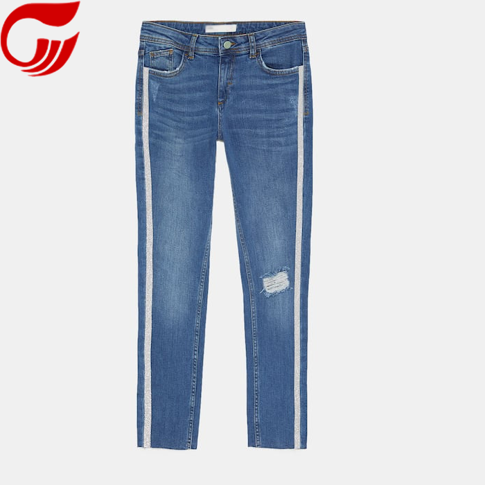 Zerrissene jeans smart denim hosen dame mode jeans