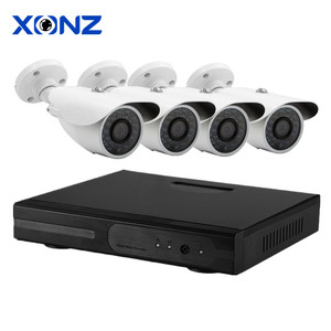 Cheap Bullet Analog 1080P Home Surveillance Remote View Security Camera CCTV System H.264 4CH CCTV Camera Kit