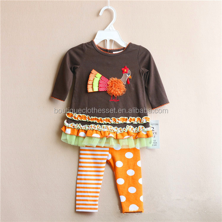 6e58d2775 Persnickety Girls Turkey Clothing Set Kids Thanksgiving Outfit ...