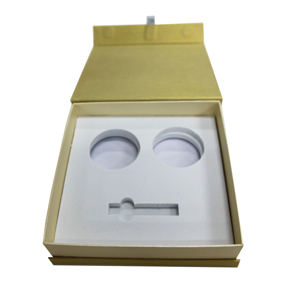 Low MOQ custom fancy paper clamshell gift boxes with ethylene-vinyl acetate copolymer inner tray
