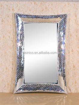 Lujo Mosaico De Vidrio Espejo Mosaico De Vidrio Crackle Espejo Para