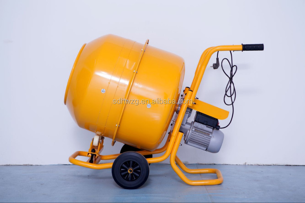 Stainless Steel Concrete Mixer : Electric stainless steel portable powder manual cement