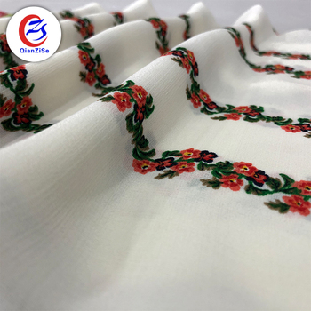 Beautiful brief design printing plain polyester linen fabric for middle east market