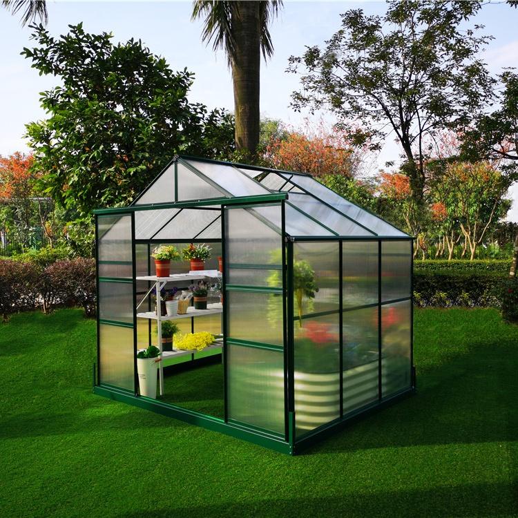 G-MORE Outdoor 6'x8' design home garden PC greenhouse Polycarbonate garden Greenhouses