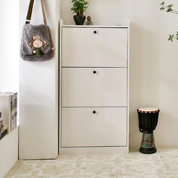 Living Room Foldable Wooden Shoe Rack Rotating Cabinet