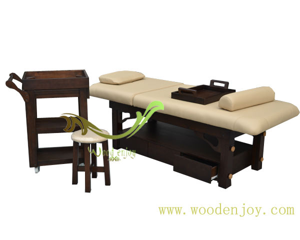 2016 Promotion Sales Wooden Massage Table Spa Pedicure Massage Bed