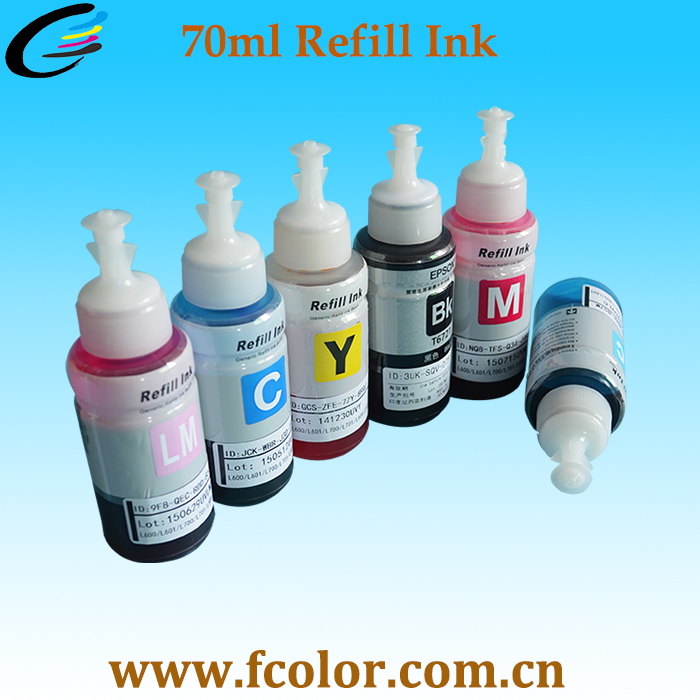 Wholesale Wholesale 70ml Refill Inks Dye Ink For Epson L Series ...