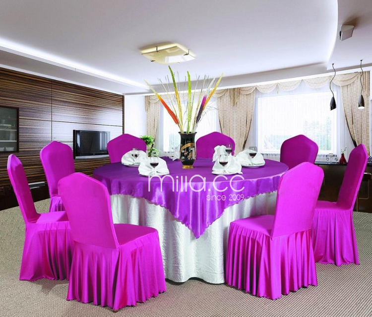 Wedding Ruffled Skirt Spandex Chair Cover