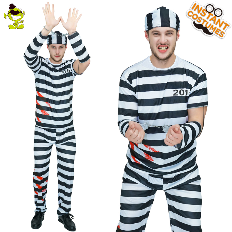 Halloween Party Costume Outfit Prisoner Inmate County Jail Baby Grow Vest