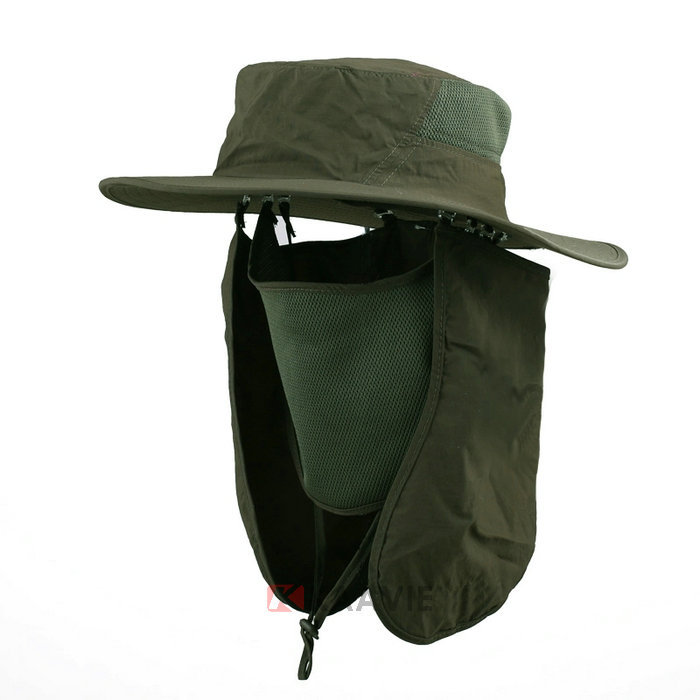 Boonie fishing hiking army military face cap ear neck flap for Fishing neck cover