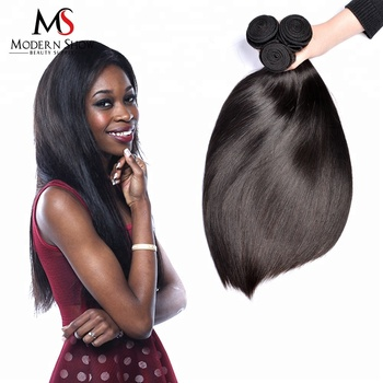 Virgin Cuticle Aligned Brazilian Silky Straight Human Hair 100g One Bundle Black Color For Black Woman