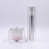 1oz 30g 50g square shape luxury cosmetic containers fancy acrylic cosmetic jars and bottles High-End Cosmetic Jar Packaging