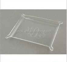 Clear cheap square acrylic serving trays, plastic serving tray wholesale