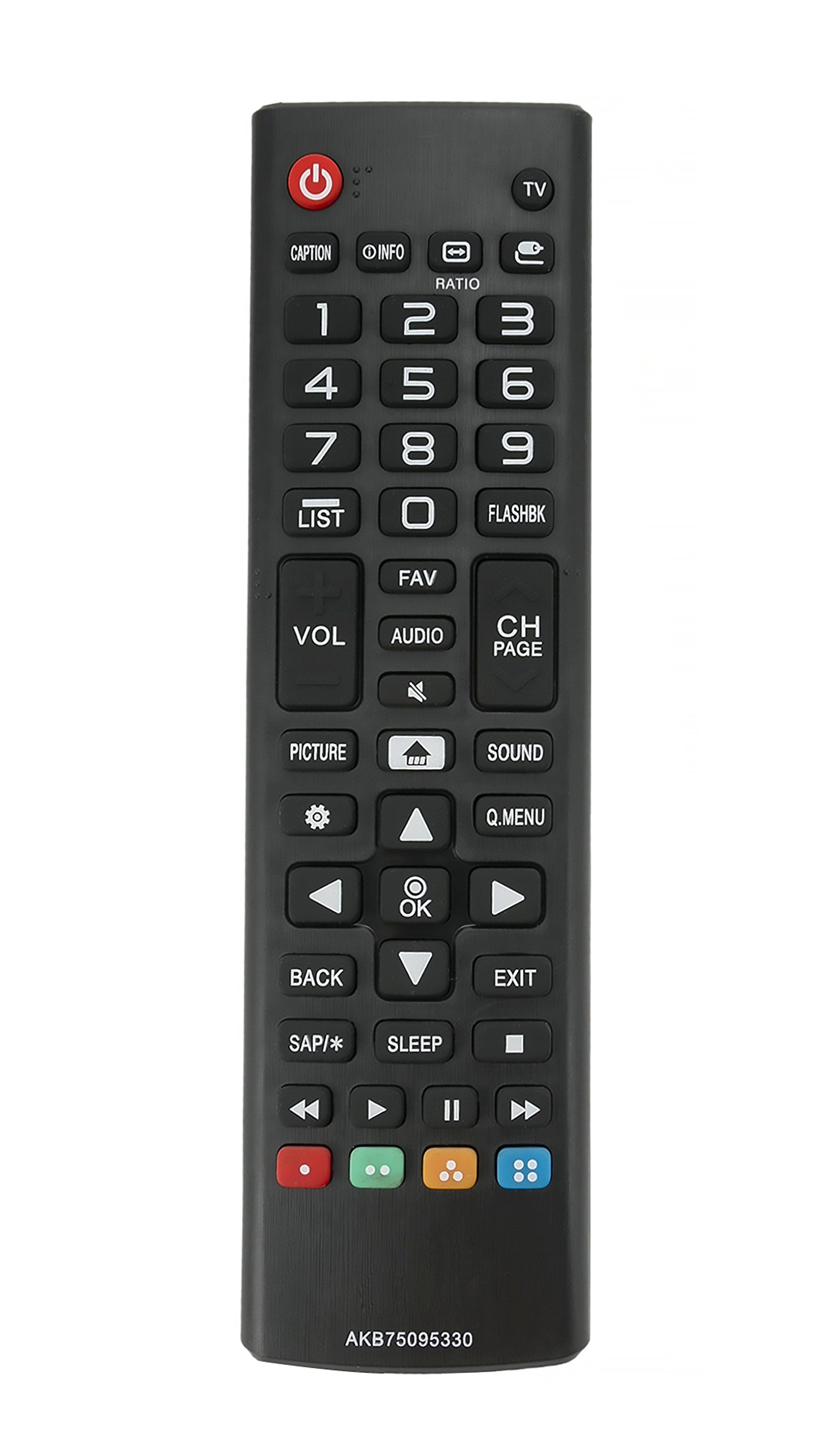 Vinabty New AKB75095330 Replace Remote Control fit for LG 28MT42DF 28LJ400B 43LJ5000 43LJ500M 32LJ500B 28LJ400B-PU 32LJ500UB 32LJ500-UBLED 28LJ430B LCD TV
