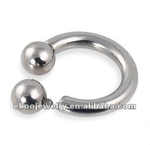 Wholesale Body Jewelry Mixed Sizes 316L Surgical Steel Internally Threaded Horseshoe Lip Rings