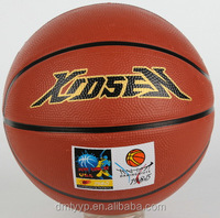 Xidsen brand Rubber Brown Basketball size 7,Student Trading Basketball