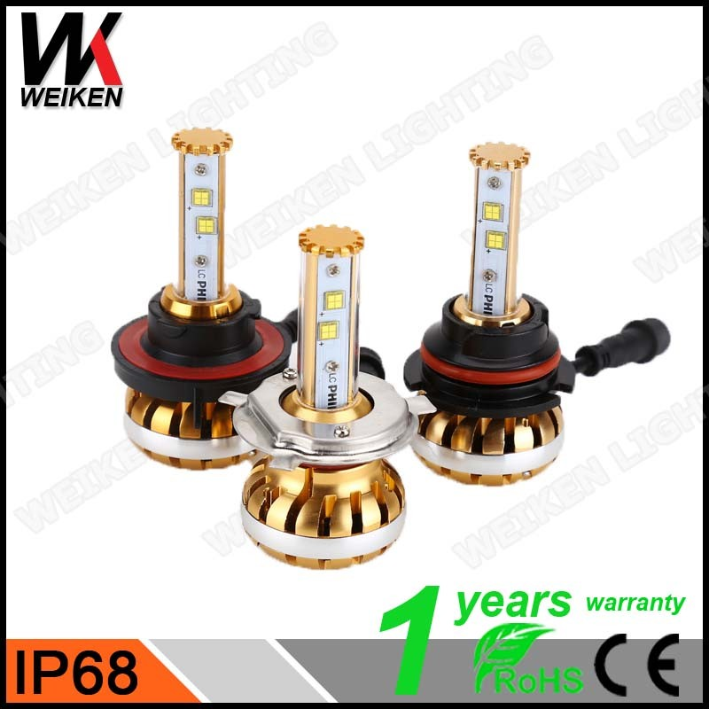 WEIKEN 6500lm h4 h13 9004 9007 led headlight kit/ led car headlight/ suzuki alto headlight