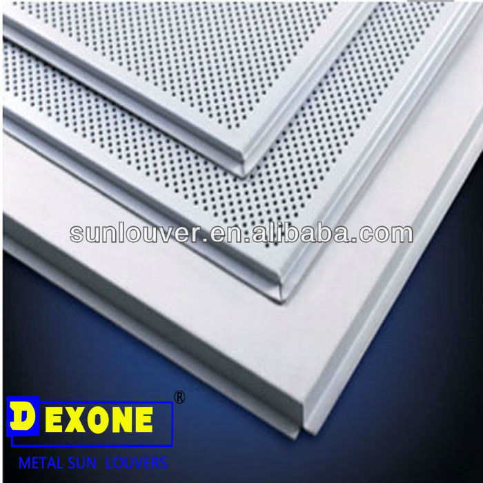 Aluminum metal perforated square ceiling tile with black non-woven fabrics