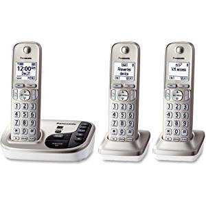 "Panasonic Kx. Tgd223n Dect 6.0 1.90 Ghz Cordless Phone . Champagne Gold . Cordless . 1 X Phone Line . 2 X Handset . Speakerphone . Answering Machine . Caller Id . Yes . Backlight ""Product Type: Phones/Analog & Digital Phones"""