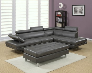 7 Seats Modern Fabric L Shaped Sectional Sofa Set