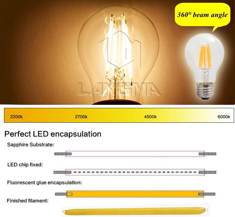 Ac110v 220v Dimmable 4000 Kelvin Edison E27 Led Light Bulbs ...