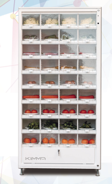 Hot Sale Automatic Soft Fruit And Vegetables Vending Machine/snack ...