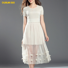 2018 newest women white bridesmaid fashion lace midi dress #bridesmaiddress lacedress midieveningdress